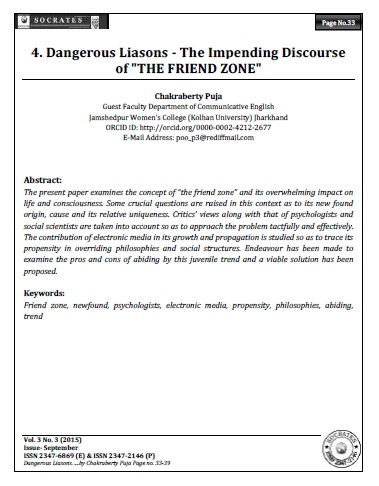 "Dangerous Liasons - The Impending Discourse of ""THE FRIEND ZONE"""