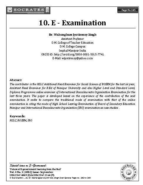 E - Examination