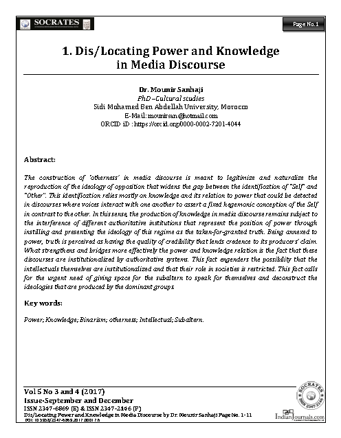 Dis/Locating Power and Knowledge in Media Discourse