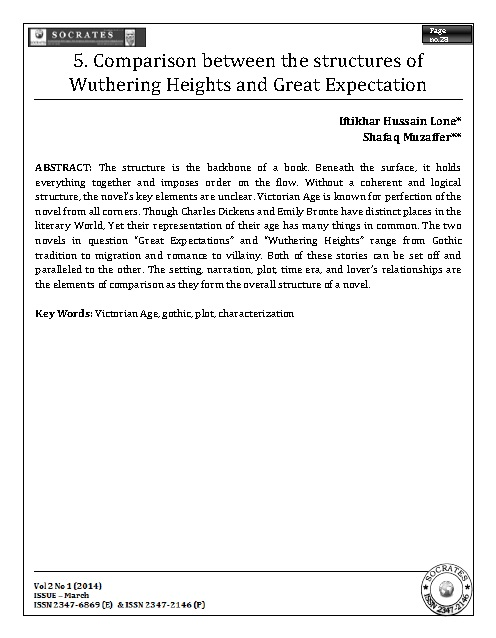 Comparison between the structures of Wuthering Heights and Great Expectation