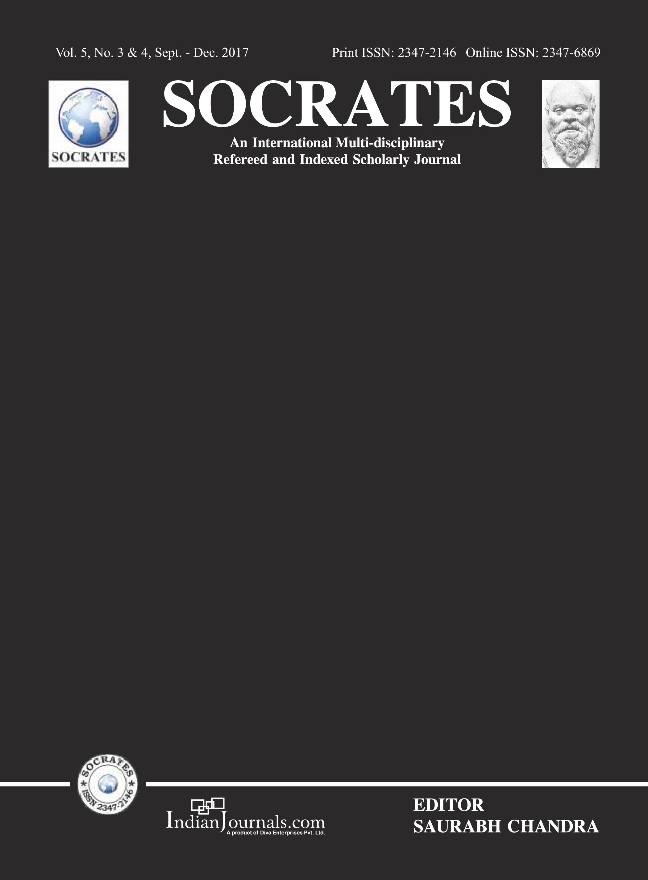 SOCRATES Vol 3, No 3 (2015): Issue- September