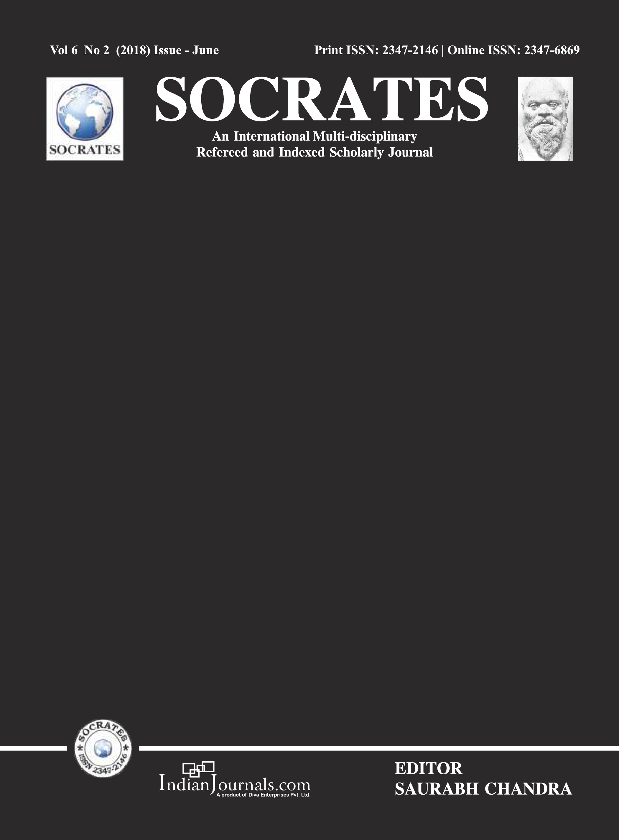 SOCRATES VOL 6 NO 2 (2018) ISSUE JUNE COVER