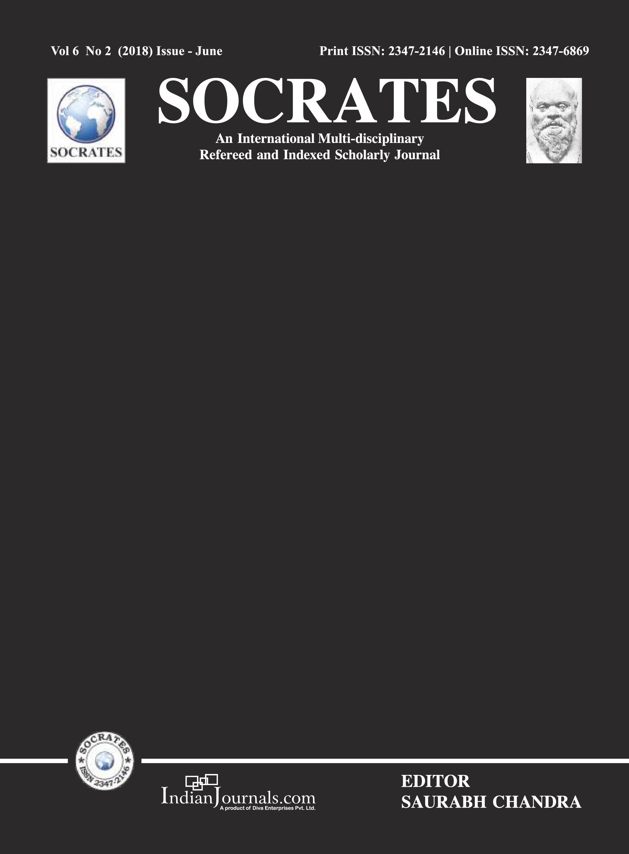SOCRATES VOL 6 NO 2 (2018) ISSUE JUNE COVER